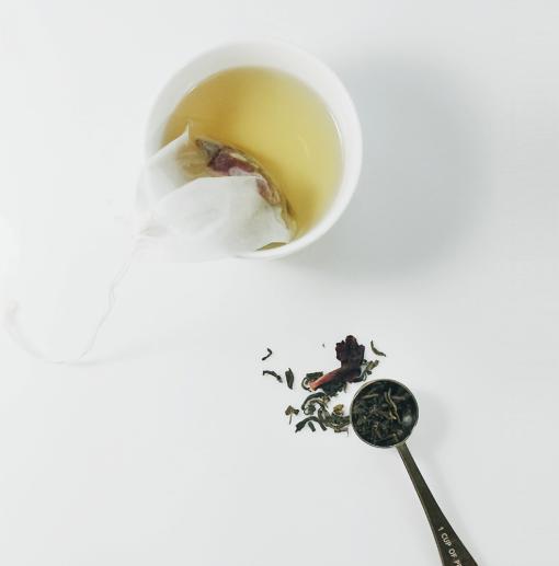 White Tea filter drink paradise warming